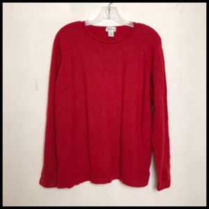 Red 100% Cashmere Pullover Sweater